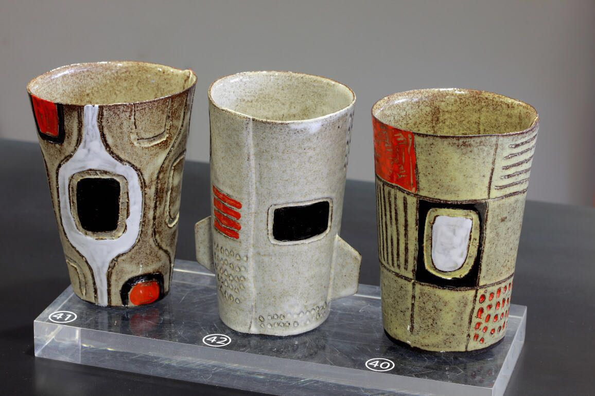 Mugs by Clementina in Solo exhibition - Poetry in African Clay at Ebony gallery